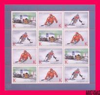 TRANSNISTRIA 2018 Sport Winter Sports Paralympic Games Slalom Biathlon Hockey Sheetlet MNH - Shooting (Weapons)