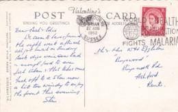 1962 SLOGAN -WORLD HEALTH ORGANISATION FIGHTS MALARIA - Marcophilie