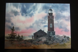Russia. Gogland Or Hogland Island. Lighthouse - Modern Postcard  - UNESCO HERITAGE - Lighthouses