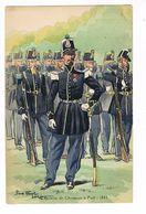 Uniforme.Capitaine De Chasseurs à Pied 1843. Pierre Albert Leroux.(40) - Uniforms