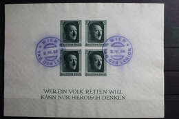Deutsches Reich Block 8 Gestempelt Tag Der Legion Wien #SL830 - Unclassified