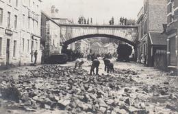 Aywaille:   Photo Carte - Inondation Du 14 Juin 1914 La Rue Du Châlet - Aywaille