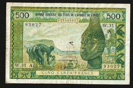 WEST AFRICAN STATES 500 Francs ND (1964) P#102Af AVF IVORY COAST - West African States