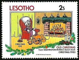 Lesotho 1983 Scott 413 Sello ** Walt Disney Libro Dibujos Washington Irving Navidad Christmas Eve 2s Lesoto Stamps - Disney