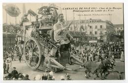 CPA 06 CARNAVAL DE NICE 1913 - CHAR DE LA MUSIQUE - Déménagement  Du Comité Des Fètes Edit Arnault - Carnaval