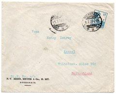NETHERLANDS INDIES - COVER TO GERMANY / SOERABAJA CANCEL 1929 - Indie Olandesi