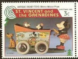 San Vicente & Grenadines 1995 Scott 2649 ** Walt Disney Mickey Mouse Toys 5c Selos марки Сан - Висенте Frimärken - Disney