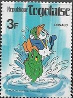 Togo 1980 Scott 1001 Sello ** Walt Disney Donald Y El Cocodrilo 3F Stamps Timbre Briefmarke Francobolli Postimerkkejä - Disney