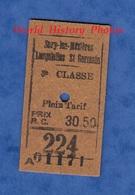 Ticket Ancien De Train - Trajet 3e Classe SERY Les MEZIERES / LESQUIELLES ST GERMAIN - Chemin Fer De L' Aisne Gare Est - Chemins De Fer