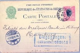 1902 , BRASIL , ENTERO POSTAL CIRCULADO , RIO DE JANEIRO - HAMBURGO , LLEGADA - Enteros Postales