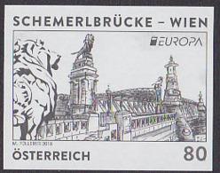AUSTRIA (2018) Schemerl (Lion) Bridge - Vienna. Black Print. - Prove & Ristampe