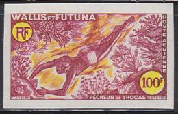 WALLIS & FUTUNA (1962) Shellfish Diver. Trial Color Proof. Scott No C16, Yvert No PA19. - Non Dentellati, Prove E Varietà