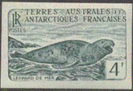 F.S.A.T. (1960) Sea Lion. Trial Color Proof. Scott No 17, Yvert No 13b. - Geschnitten, Drukprobe Und Abarten