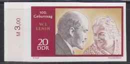 GERMANY (1970) Lenin. Clara Zetkin. Imperforate Phase Proof In Final Colors. Scott No 1189, Yvert No 1251. - [6] Oost-Duitsland