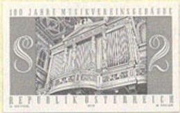 AUSTRIA (1970) Organ Pipes. Black Print. Vienna Music Academy. Scott No 864, Yvert No 1156. - Prove & Ristampe