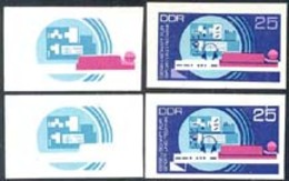 GERMANY (1972) Amateur Radio Transmitter. Set Of 4 Imperforate Progressive Proofs. Scott No 1391 - [6] Democratic Republic