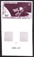F.S.A.T. (1966) D1 Satellite. Trial Color Proof. Scott No C11. Yvert No PA12. - Non Dentelés, épreuves & Variétés