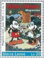 Sierra Leona 1996 Scott 1569 Sello ** Walt Disney Mickey Mouse Magazines Le20 Sierra Leone Stamps Timbre Briefmarke - Disney
