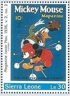 Sierra Leona 1996 Scott 1570 Sello ** Walt Disney Mickey Mouse Magazines Le30 Sierra Leone Stamps Timbre Briefmarke - Disney
