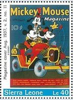 Sierra Leona 1996 Scott 1571 Sello ** Walt Disney Mickey Mouse Magazines Le40 Sierra Leone Stamps Timbre Briefmarke Fran - Disney