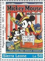 Sierra Leona 1996 Scott 1572 Sello ** Walt Disney Mickey Mouse Magazines Le50 Sierra Leone Stamps Timbre Briefmarke - Disney