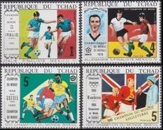CHAD. FOOTBALL. WORLD CUP 1970. 4V  MNH** - Copa Mundial