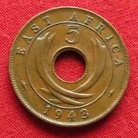 East Africa 5 Cents 1943  Africa Oriental Afrique Afrika Wºº - Monnaies