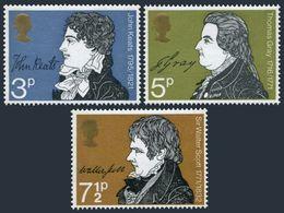 Great Britain 651-653,MNH.Michel 577-579. Writers 1971.John Keats,T.Gray,W.Scott - 1952-.... (Elizabeth II)
