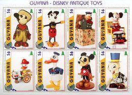 Guyana 1996 Scott 3098 A-H HB Sellos ** Walt Disney Antique Disney Toys Stamps Timbre Briefmarke Francobolli Postimerkke - Disney