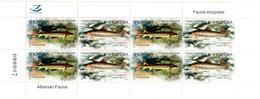 Albania Stamps 2018. Fauna: Fish. Acipenser Sturio; Salmo L. Mini Sheet. MNH - Albania