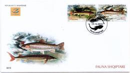 Albania Stamps 2018. Fauna: Fish. Acipenser Sturio; Salmo L. FDC Set MNH - Albania