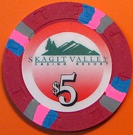 $5 Casino Chip. Skagit Valley, Bow, WA. N03. - Casino