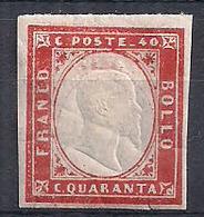 ANTICHI STATI ITALIANI 1861-63 REGNO DI SARDEGNA EFFIGE DI V.E.II SASS. 16F MNH VF SENZA GOMMA - Sardegna