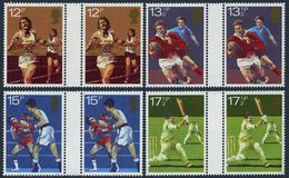 Great Britain 924-927 Gutter,MNH.Michel 850-853.Running,Rugby,Boxing,Criket.1980 - Unused Stamps