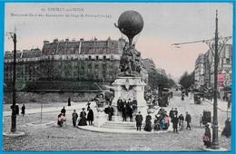 CPA 92 NEUILLY-sur-Seine - Monument élevé Aux Aéronautes Du Siège De Paris (1870-71) ° P. Marmuse - Neuilly Sur Seine