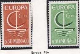 MONACO 1966 - SERIE N° 698 Et 699 - 2 TP NEUFS ** - Monaco