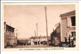 PUY-DE-SERRE -  Cpa Sépia - Route De St-Hilaire De Voust   ( Scans Recto-verso) - France