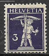 SVIZZERA  1909 WALTER TELL UNIF. 135  MLH VF - Nuovi