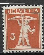 SVIZZERA  1916-22 WALTER TELL  UNIF. 158 MLH VF - Svizzera