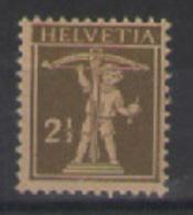 SVIZZERA  1916-22 WALTER TELL  UNIF. 157 MNH XF - Nuovi
