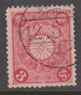 Japan Scott 98 1906 Chrisanthemum 3s Rose,used - Used Stamps