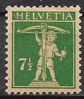 SVIZZERA 1924-28  HELVETIA SEDUTA UNIF. 199 MLH VF - Svizzera