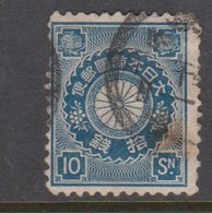 Japan Scott 103 1899 Chrisanthemum 10s Blue,used - Used Stamps