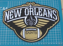 """NEW ORLEANS SAINTS PELICANS NFL FOOTBALL LOGO 10"""" JERSEY PATCH SEW EMBROIDERY - New Orleans Saints"""