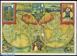 Virgin Islands 1980 Sir Francis Drake S/s, (Mint NH), Transport - Ships & Boats - History - Coat Of Arms - Explore.. - Geografía