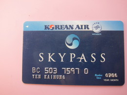 Korean Air Mileage Card - Phonecards