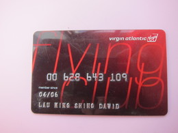 Virgin Atlantic Airlines Mileage Card,flying Club - Phonecards
