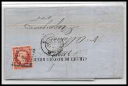 LAC Lettre Cover France 2008 Napoléon N°17 80c Rose Tb Paris Pour Draguignan Var 10/1/1857 Convoyeur - 1849-1876: Période Classique