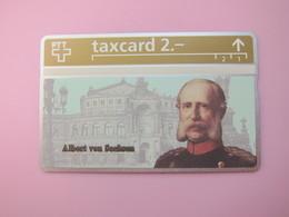 L&Gyr Phonecard,Konigs/king Card,Albert  Von Sachsen - Suisse