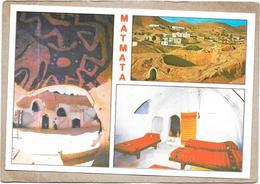 MATMATA - TUNISIE - MULTI-VUES - 3 Vues Du Village Troglodyte - DELC7 - - Tunisia